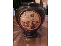 I have a 24carat gold rimmed and plated Japanese vase of a picture of the samurai warriors.