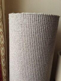 Stair runner carpet offcut. new,light grey wool Berber 78cm wide x 840cm length