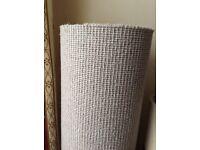 carpet offcut. new,light grey wool Berber 78cm wide x 840cm length