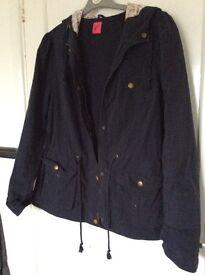 Navy blue lined jacket size 16.
