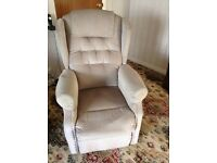 Electric reclining tilt and lift chair