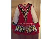 Stunning Girls Irish Dancing Competition Dress -Would suit age 6-9yrs