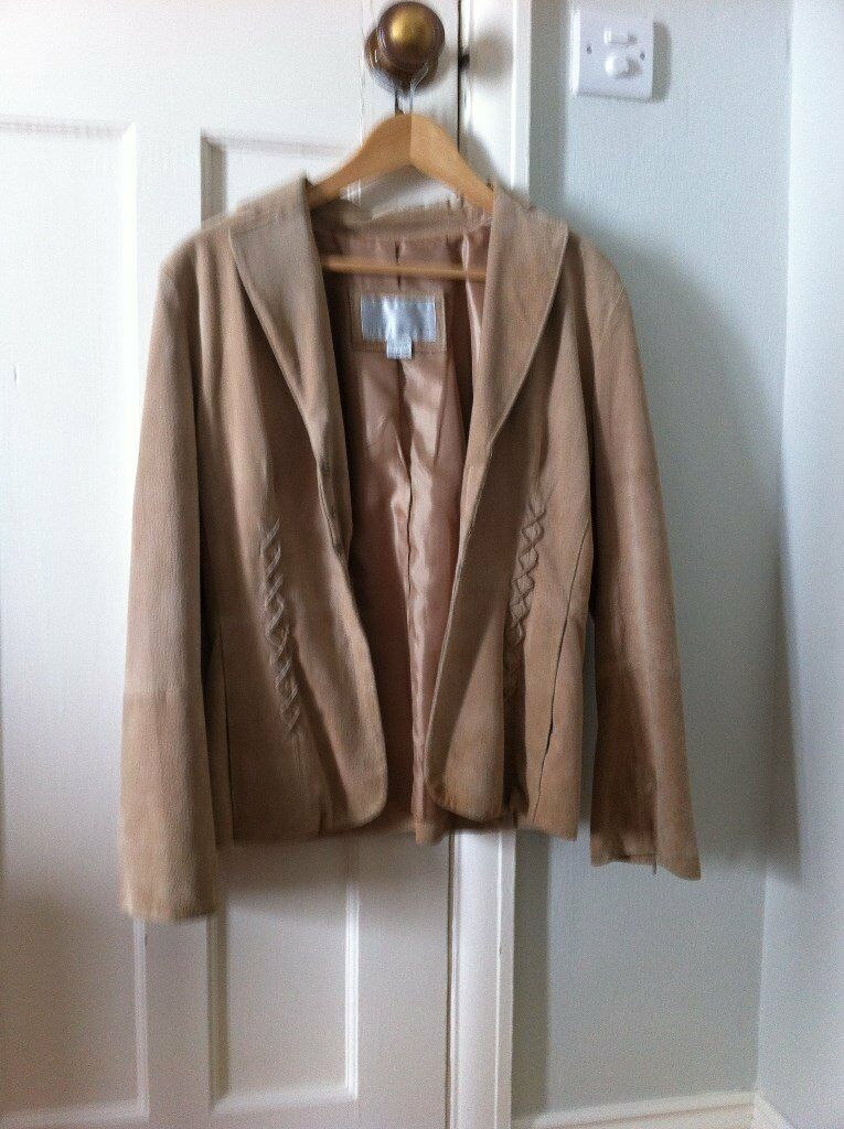 Nine West Tan Suede Jacket and tan suede shoes to match sold together.