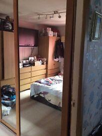 Sliding mirrored wardrobe x 3