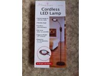 CORDLESS LED LAMP TO SUIT ANY ROOM, ADJUSTABLE FOR TABLE OR FLOOR STANDING