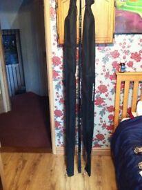 Carp fishing rods and 42 inch net