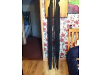 Carp fishing rods and 42 inch net