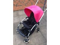 BUGABOO BEE PLUS PRAM PUSHCHAIR BUGGY WITH RAIN COVER & COCOON
