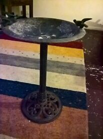 antique cast iton bird bath