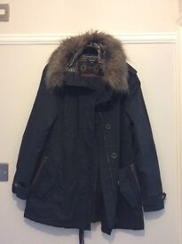 Maternity coat, New Look fur lined Parker