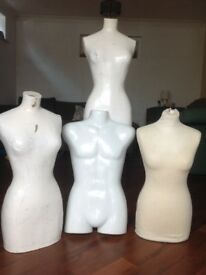 4 shop clothes mannequins