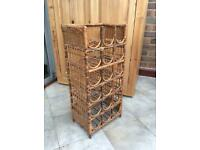 Antique Vintage Bamboo Wine Rack