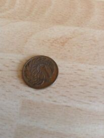 A 1967 New Zealand One Cent Coin