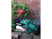 Qualcast electric lawn raker