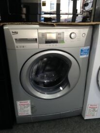 Beko 8kg 1200 spin silver washing machine. RRP £289 price £220 new/graded 12 month Gtee