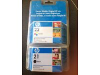 HP 21 and 22 Ink cartridges