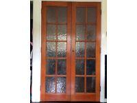 Double Wooden Glazed Internal Doors