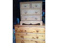 Loverly pine cupboard 4 drawer look