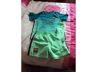 Childrens barcelona football kit