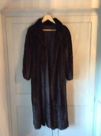 Stunning full length mink coat