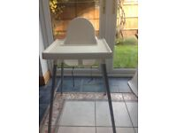 IKEA White Highchair - with removable tray