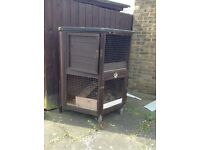 Small animal two tier hutch