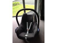 Maxi cosi baby car seat with waterproof cover
