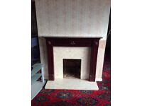 Mahagony Fire Surround and Marble Hearth