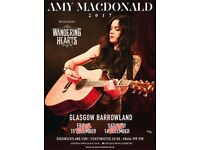 2 x Standing tickets - Amy MacDonald - Glasgow Barrowlands - Sat 16th Dec