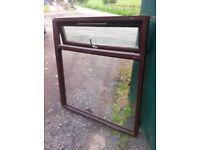 Upvc mahogany double glazed window units... choice of three
