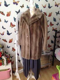 Fake fur jacket vintage