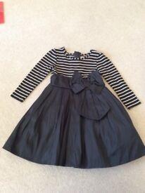 Next black and gold dress 18-24 months