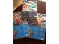 Arts and crafts sets and coloured paper