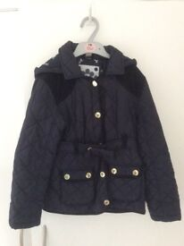 Girls quilted school coat, age 7-8yrs