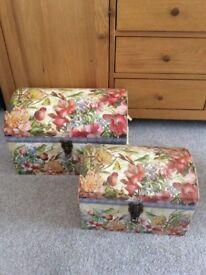 Trunk/ Storage Boxes set of 2