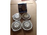 14 inch White Wheel Trims