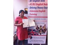 English B1 Test & English A2 Test - 99% PASS RATE + FREE RETRAINING (Derbyshire)