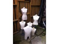 Mannequin busts/dressmaking ,ideal for photographing e bay jewellery, clothes etc