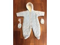 BABY SNOWSUIT AGE 3-6 MONTHS FROM MARKS AND SPENCER NEVER WORN