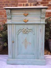 Solid wood carved free standing cabinet unit sideboard cupboard vintage French