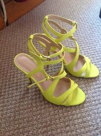 Yellow Kardashian Collection heels