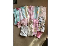 Baby girls clothes bundle- size up to one month