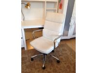 Cream leather effect office chair great condition