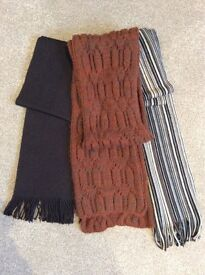 Mens Scarf. Supersoft, Bundle of 3. Brown scarf by Jasper J Conran. Excellent Condition.