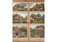 SET OF SIX PIMPERNEL ENGLISH COTTAGES TABLE MATS (BOXED)