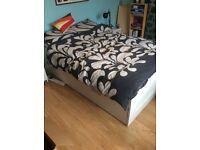 White double bed IKEA BRIMNES