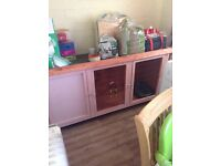Pink rabbit hutch FULL SET UP