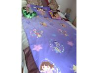 DORA THE EXPLORER SINGLE BED SET AND CUSHIONS