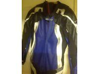 Frank Thomas one piece motorcycle leathers size 42