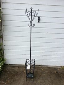 Silver Metal Coat Stand